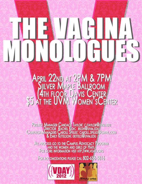 Vagina Monologues 2012 POSTER