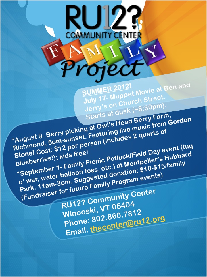 Family project flier