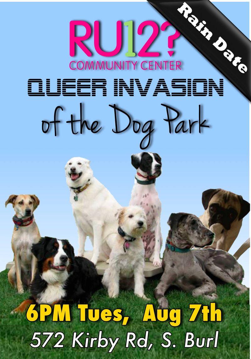 Dog park rain