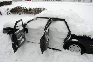 Snowed-in-Car